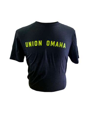 Union Omaha Men's Nike Black Volt Wordmark Tee