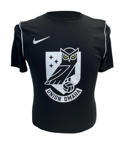 Union Omaha Youth Nike Black Dry Park S/S Crest Tee