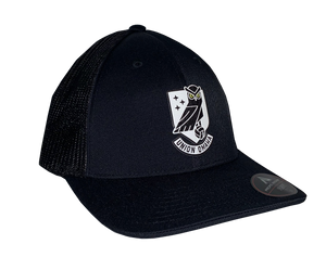 Union Omaha Pacific Headwear Youth Black Crest Flex Hat