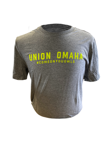 Union Omaha Women's Nike Grey Wordmark #COYO Tee