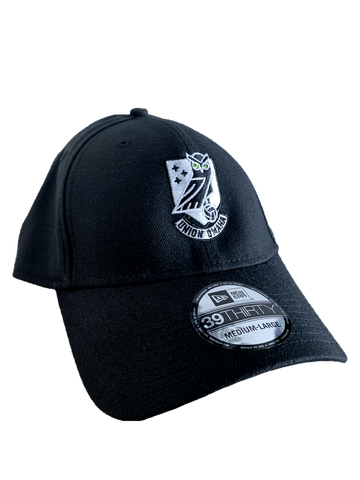 Union Omaha New Era 39THIRTY Black Crest Hat