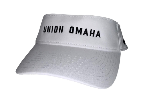Union Omaha Nike White Wordmark Visor