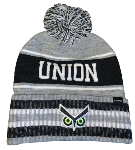 Union Omaha PH Heather Pom Eyes Beanie