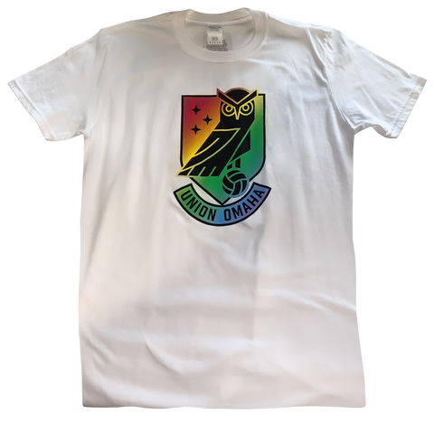 Union Omaha Men's BR White Basic Pride Tee