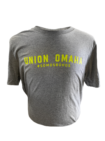Union Omaha Men's Nike Grey Wordmark #SOMOSBUHOS Tee