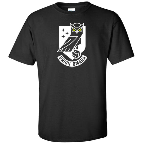 Union Omaha Men's BR Basic Black Front Crest Tee