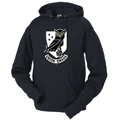 Union Omaha Men's BR Black French Terry Front Crest Hoodie