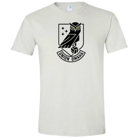 Union Omaha Men's BR White Softstyle Front Crest Tee