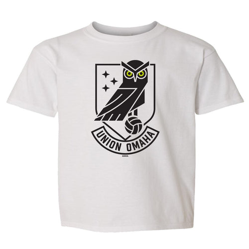 Union Omaha Toddler BR White Softstyle Front Crest Tee