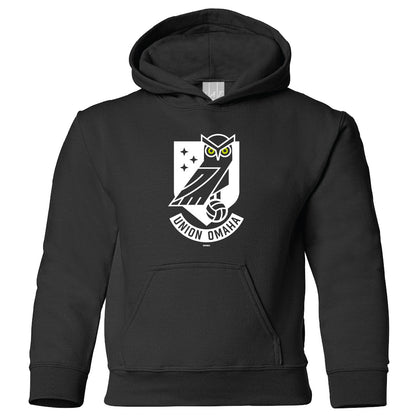 Union Omaha Youth BR Black Front Crest Hoodie