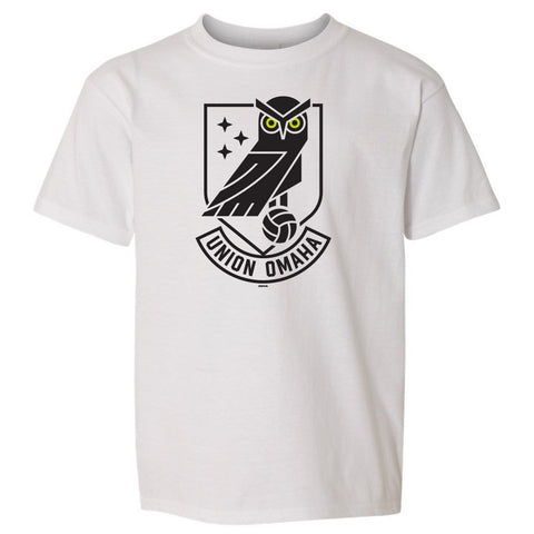 Union Omaha Youth BR White Softstyle Front Crest Tee