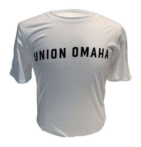 Union Omaha Men's Nike White Core Wordmark Tee