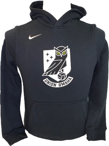 Union Omaha Youth Nike Club Fleece Black Hoodie