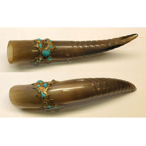 Drinking Horn with turquoise