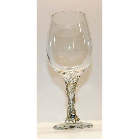 Black pearl and white pearl white wine glass