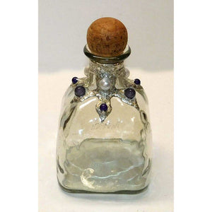 Patron bottle with pearls and amethyst