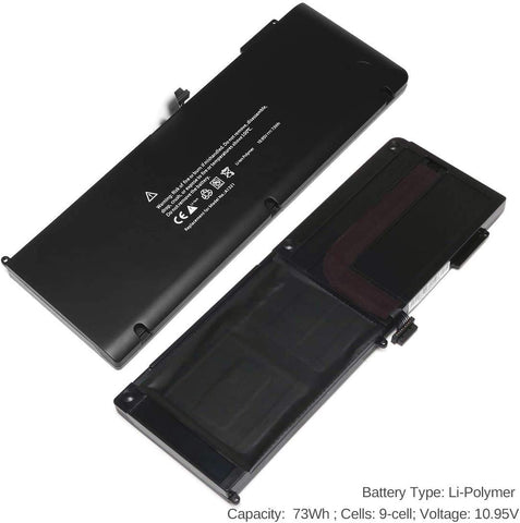 "Batteri til MacBook Pro 15"" Unibody A1286 A1321 2009-2010 (kompatibelt)"