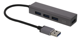 DELTACO USB Mini Hub med 4 USB-A port
