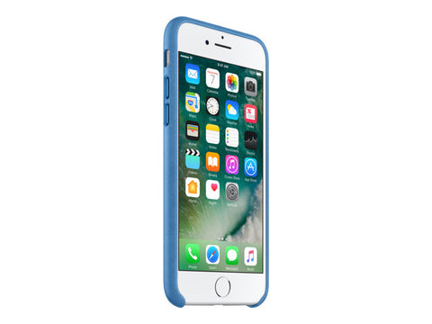 Apple Case PU-Leather for iPhone 8 - Ocean Blue