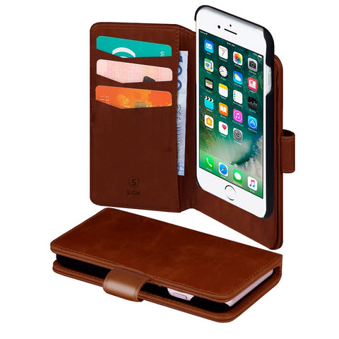 Cover 2-in-1 for iPhone 7 Plus - Brown