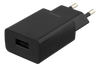 Image of Wall Charger 100-240V to 5V USB, 1A, 5W, 1xUSB-A Port, black