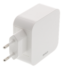 USB Wall charger, 4 ports, USB Type-A, 4.8A, white