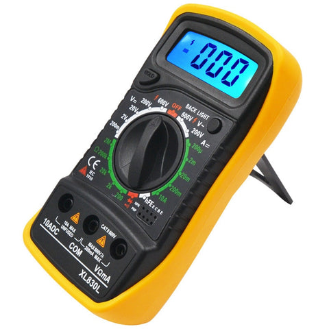 Professional XL830L Digital Multimeter Voltmeter Ammeter OHM AC DC Volt Tester LCD Test Current Multimeter Overload Protection