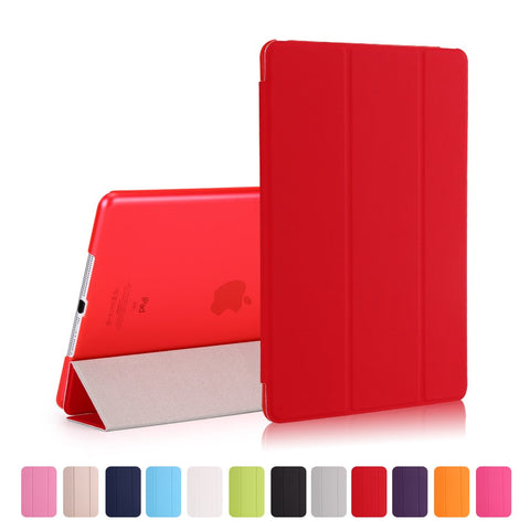 Tri-fold Cover for iPad 9.7 2017- Red