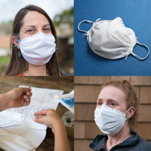 Load image into Gallery viewer, 4-pack white-Adult and Child DIY Reusable Face Masks