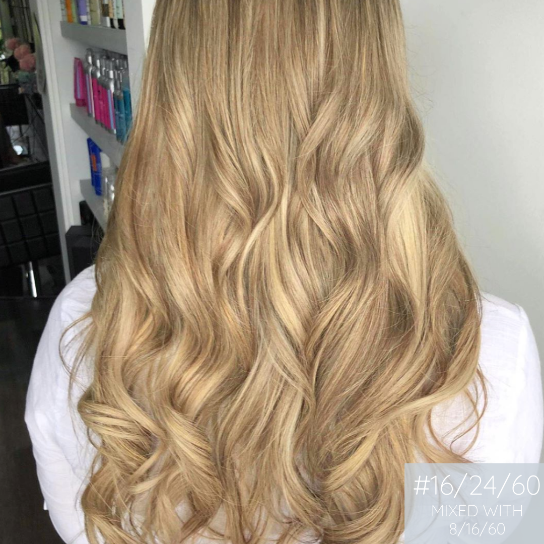 Clip In Hair Extensions 8/16/60 Sunkissed Blonde Mix