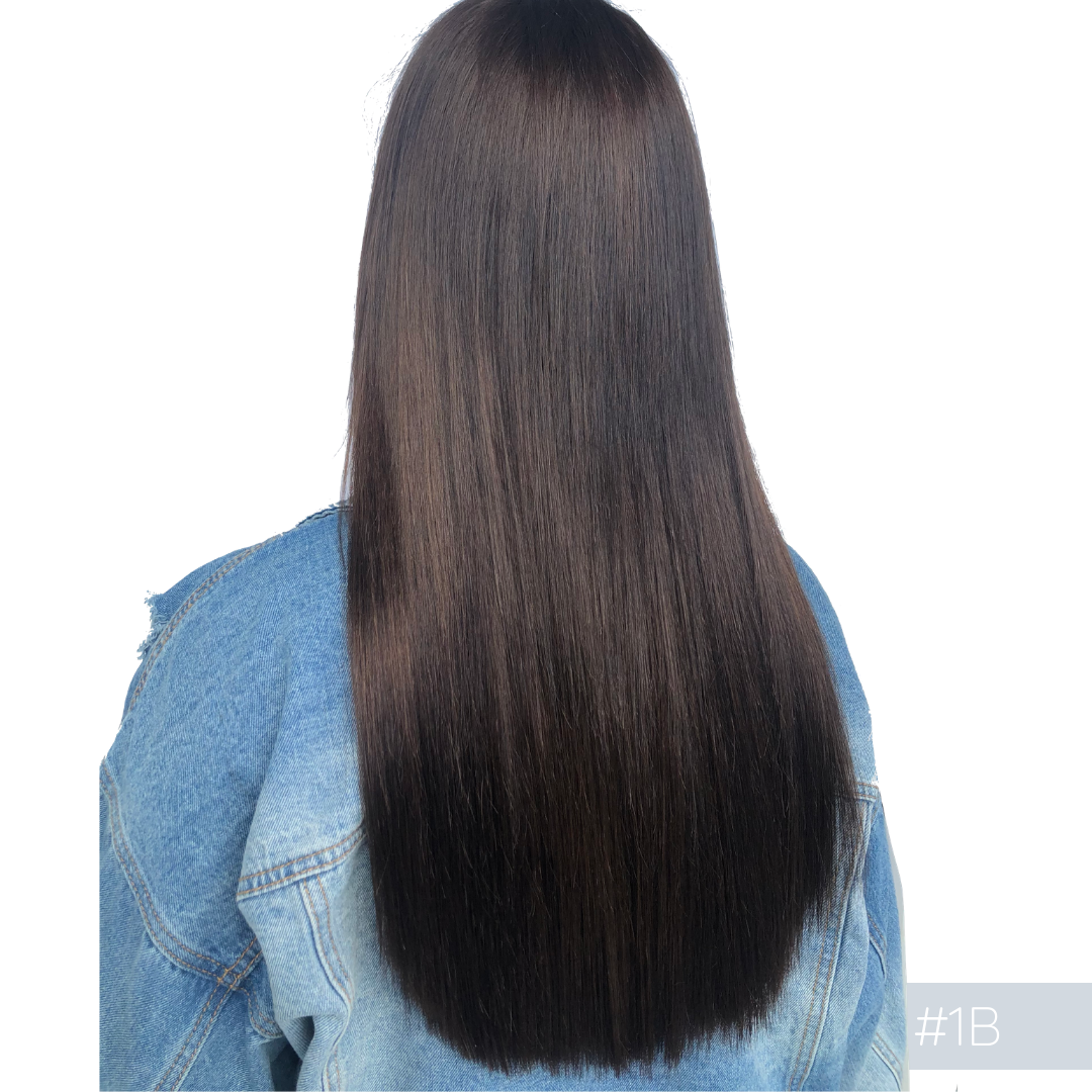 Clip In Hair Extensions #1b Warm Black
