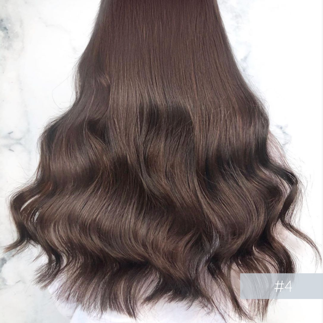 Clip In Hair Extensions #4 Chocolate Brown