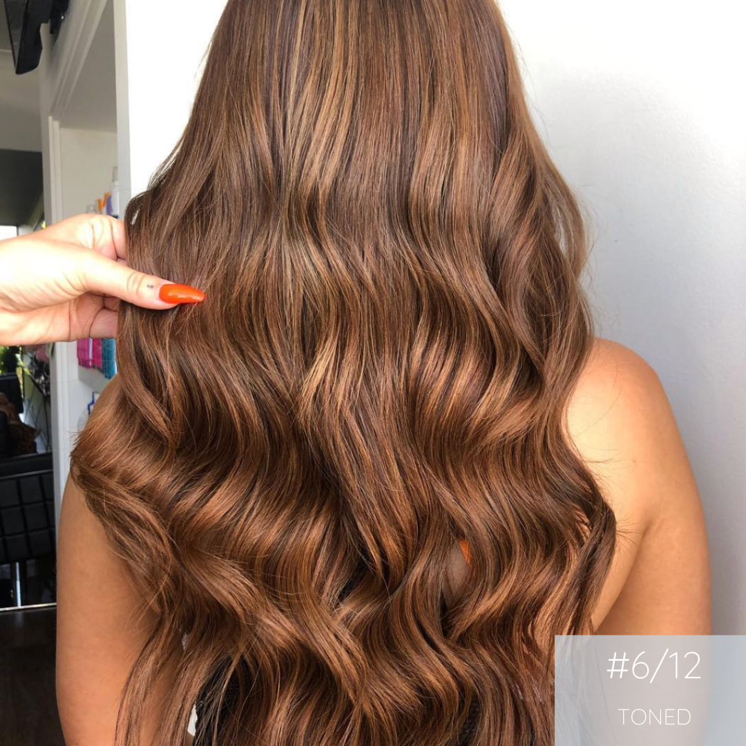 Clip In Hair Extensions 6/12 Caramel Mix