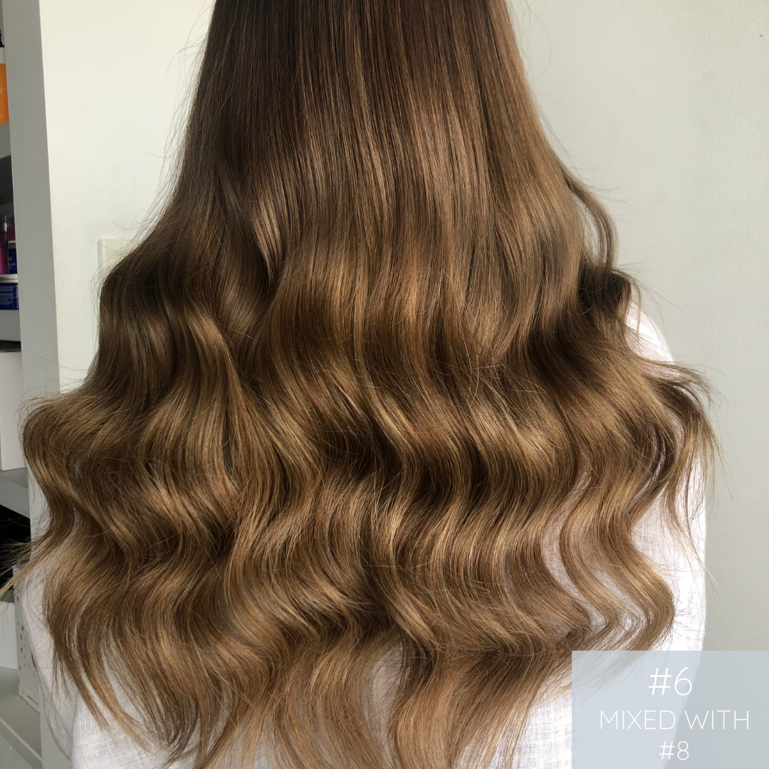 Keratin Bonds #6 Medium Brown | European Human Hair Extensions