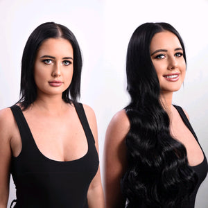 "20"" Clip In Hair Extensions #1 Jet Black 