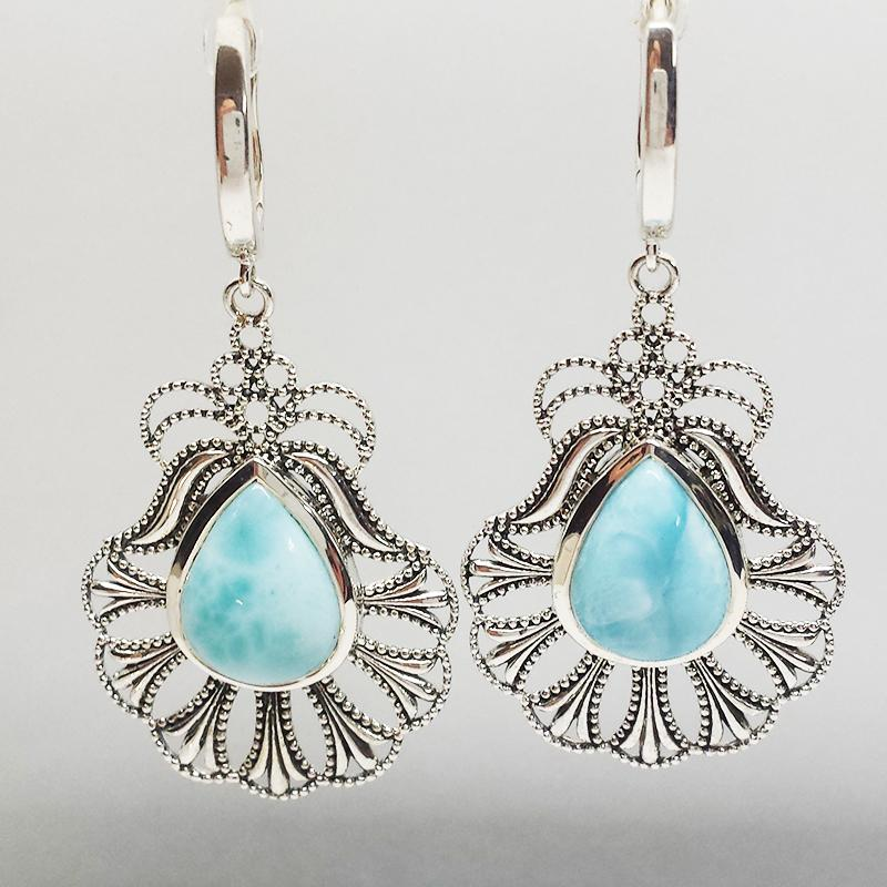 SS Larimar Earrings