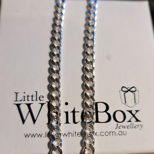 Sterling Silver Cut Curb Chain