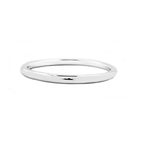 Sterling Silver 8mm Plain Donut Bangle