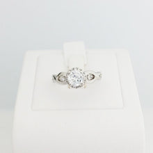 Load image into Gallery viewer, 9ct/18ct White Gold Engagement Ring Design 3