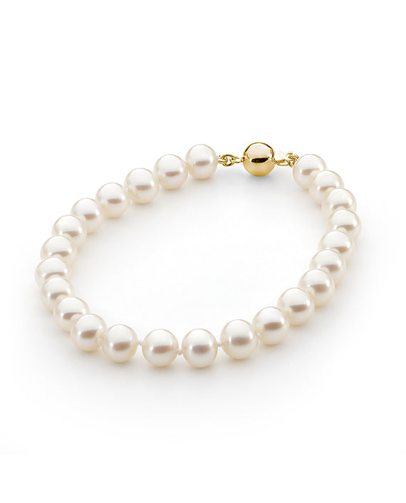 9ct Round Classic Freshwater Pearl Bracelet