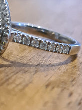 Load image into Gallery viewer, Stunning 18WG Pear Shape Diamond Engagement Ring