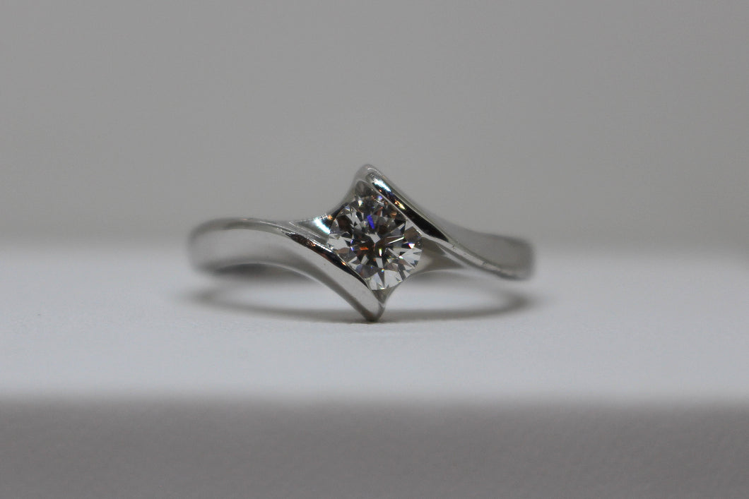 18ct White Gold 1/2carat Diamond Solitaire Ring