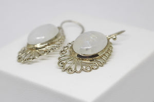 SS Rainbow Moonstone Earring
