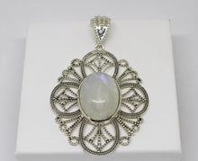 Load image into Gallery viewer, SS Rainbow Moonstone Pendant