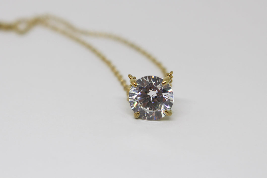 SS Gold Plated CZ  Necklace