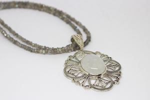 SS Rainbow Moonstone Necklace