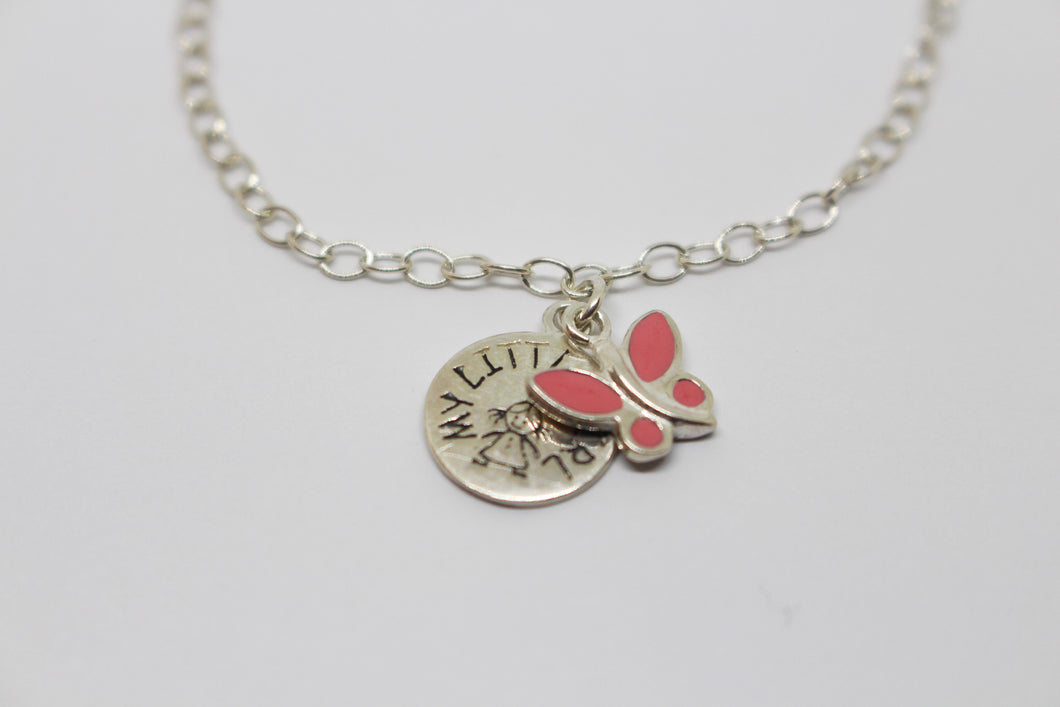 TT SS 'My Little Girl' & Butterfly charm