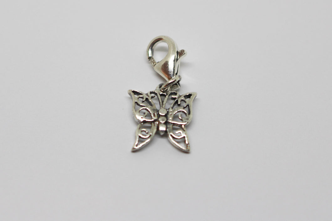 SS Butterfly Charm on Parrot Clasp