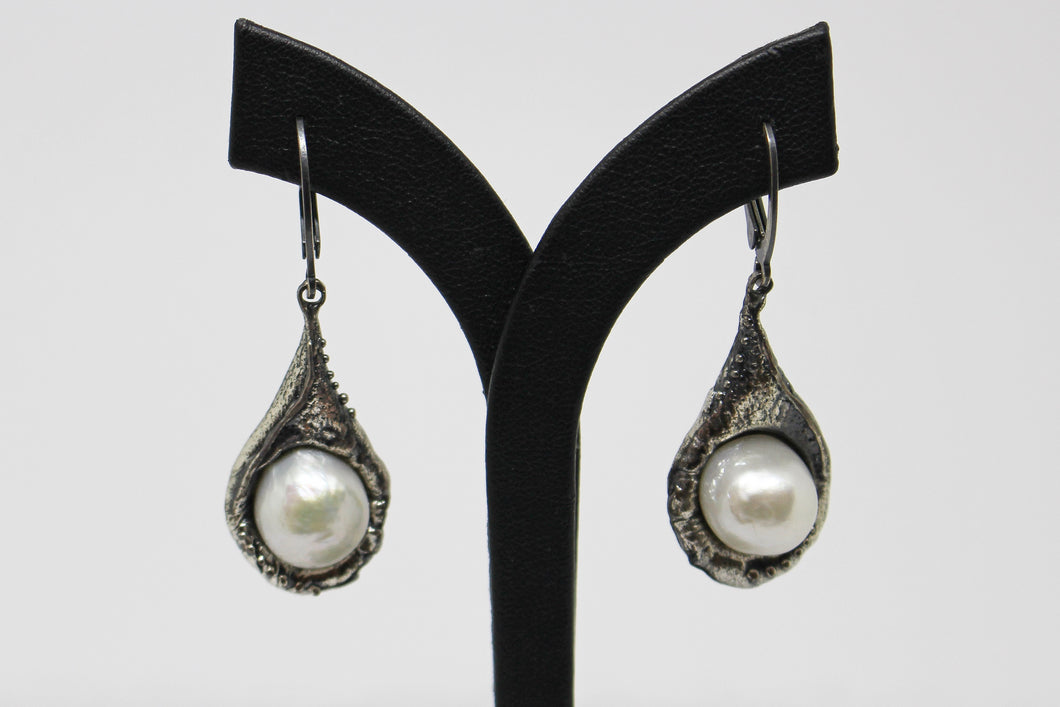 SS Fancy Baroque Pearl Drop Earrings