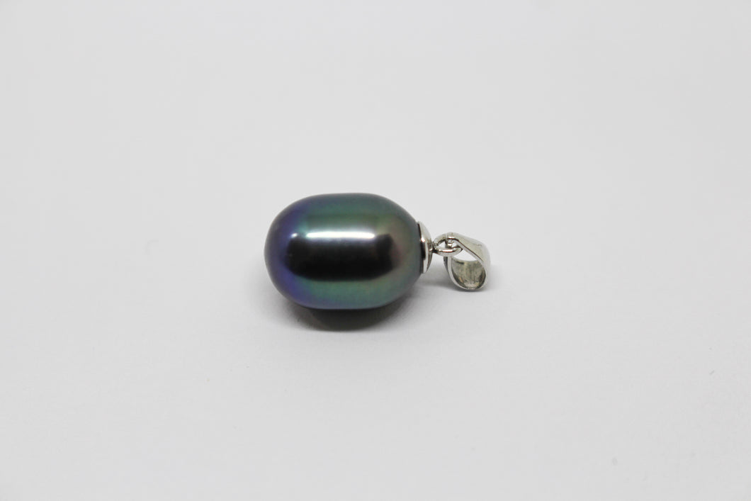 SS dyed Black Fresh Water Pearl Pendant
